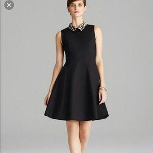 Late spade Rissa leopard collar dress